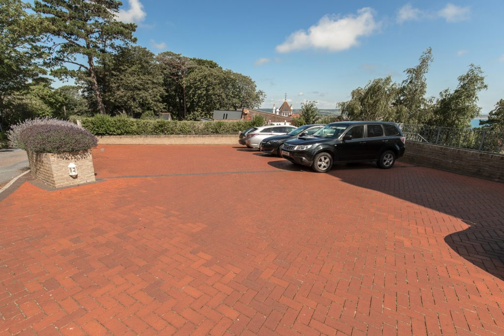 Bricked drive way for numerous vehicles