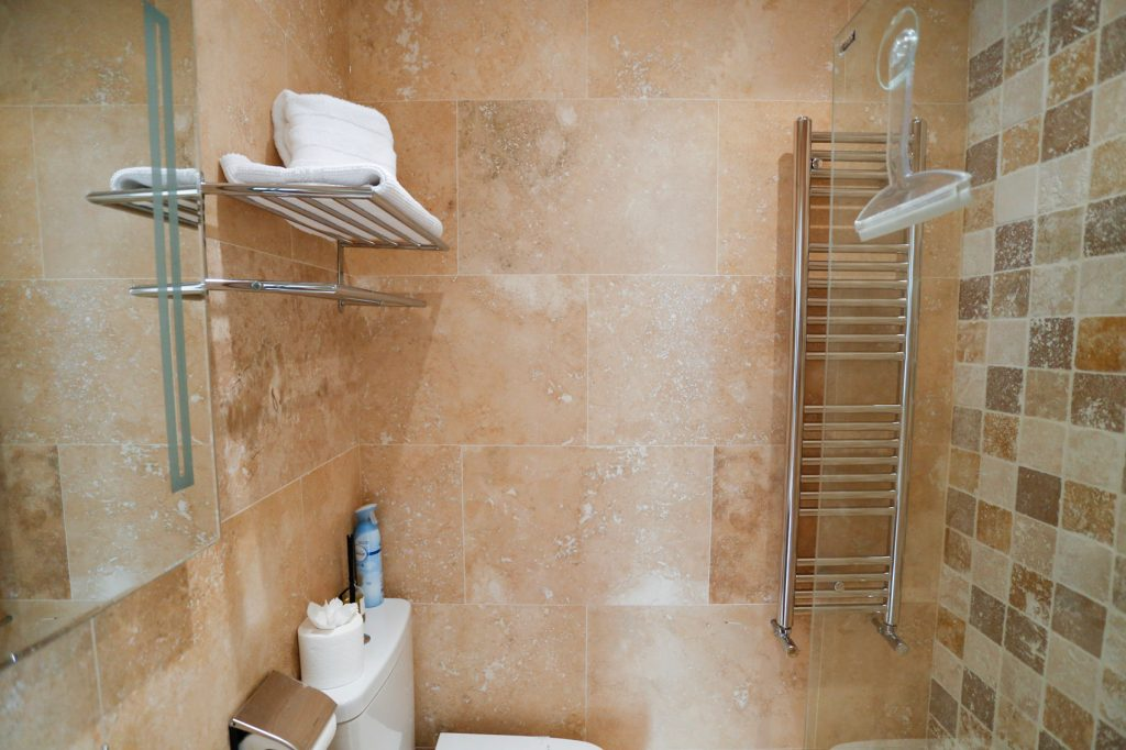 Heater Towel rail and shower screen